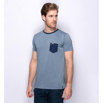 Camiseta Teodoro Slim Aveludada Com Bolso Macia Masculina