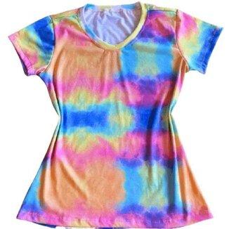Camiseta Tie Dye Cores Feminina