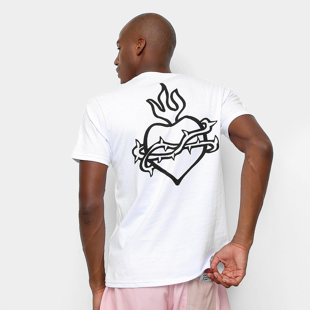 Camiseta Toiss Estampa Costa Sagrado Coração - Branco