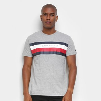 Camiseta Tommy Hilfiger Básica Established Masculina