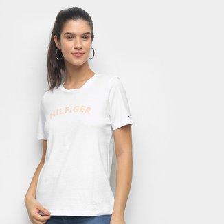 Camiseta Tommy Hilfiger Básica Logo Feminina