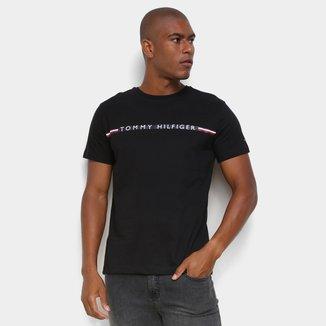 Camiseta Tommy Hilfiger Básica Logo Masculina