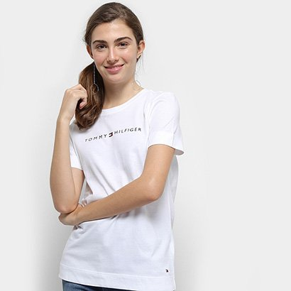Camiseta Tommy Hilfiger Essential Crew Neck Tee Feminina-Feminino