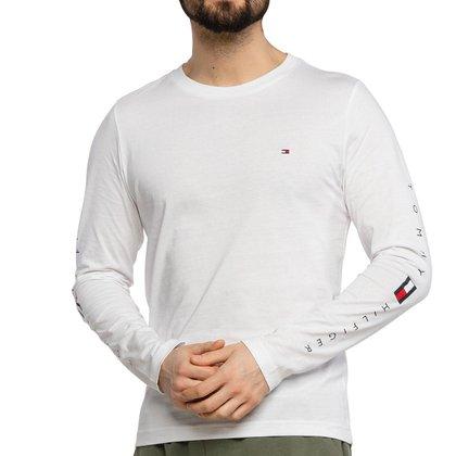 Camiseta Tommy Hilfiger Essential Manga Longa Branca