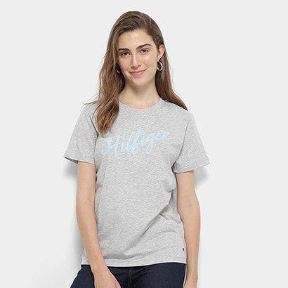 Camiseta Tommy Hilfiger Feminino Viola Feminino-Feminino