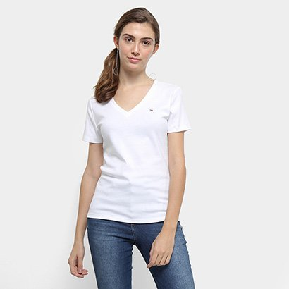 Camiseta Tommy Hilfiger Im A Cody Round Top Feminina-Feminino