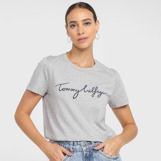 Camiseta Tommy Hilfiger Logo Básica Feminina