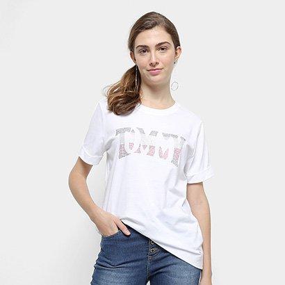 Camiseta Tommy Hilfiger Tyara C-Nk Tee Feminina-Feminino
