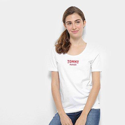 Camiseta Tommy Hilfiger Tyara Scoop-Nk Feminina-Feminino