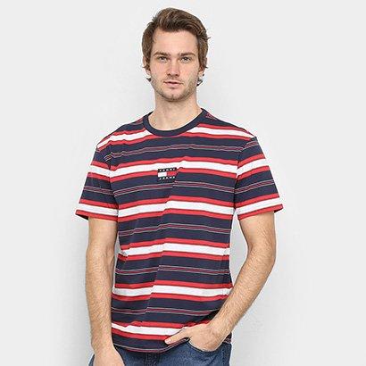 Camiseta Tommy Jeans Stripe Logo Tee Masculina