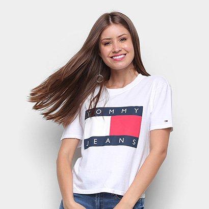 Camiseta Tommy Jeans Tommy Flag Tee Feminina