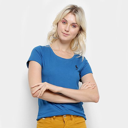 Camiseta Top Moda Bordado Feminina