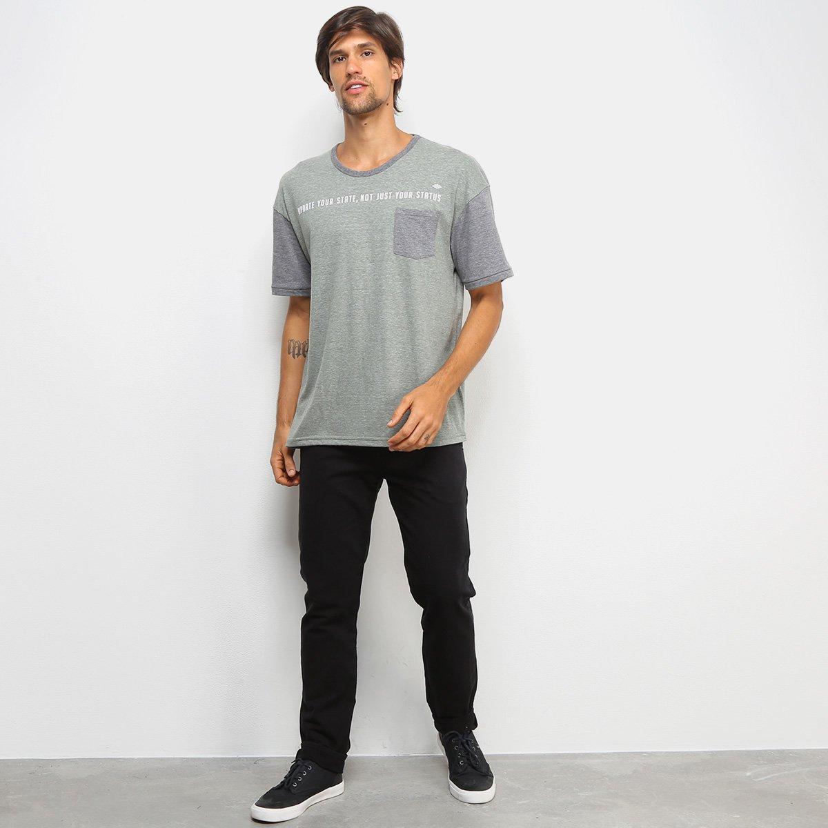 Camiseta Triton Com Bolso Masculina - Verde