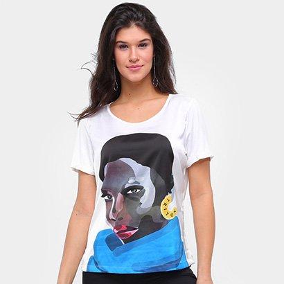 Camiseta Triton Estampada Feminina
