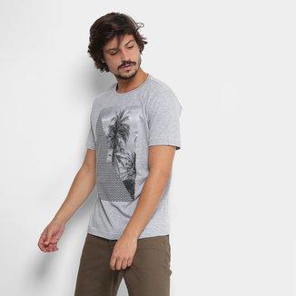 Camiseta Tropical Brasil Palmeira Masculina