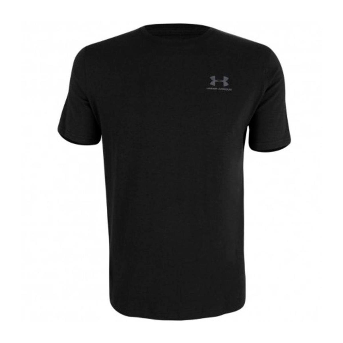 8c09cb12a9d Camiseta Under Armour Brazil Left Chest - Preto e Cinza - Compre Agora