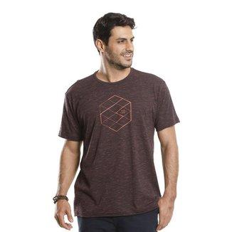 Camiseta VLCS Trends Gola Careca Marrom