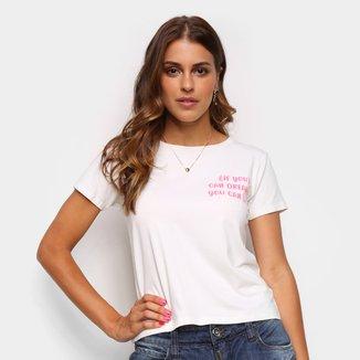 Camiseta Volare Estampada Manga Curta Feminina
