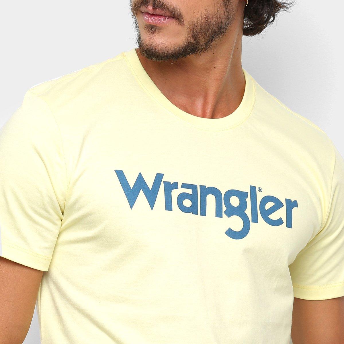 Camiseta Wrangler Básica Logo Masculina - Amarelo