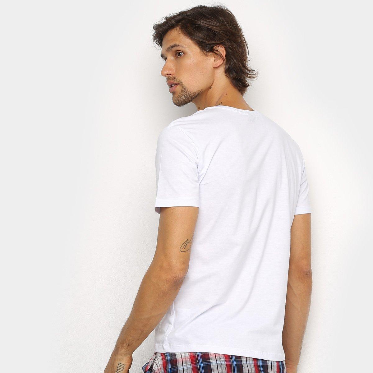 Camiseta Wrangler Logo Jeanswear Masculina - Branco