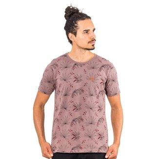 Camiseta Zafina Floral Gola Redonda Manga Curta Masculina