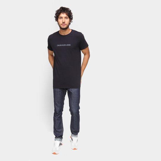 Camisetas Calvin Klein Masculino MC Gola Careca ES6 CCS TM7 T11-CKJM106 - Preto