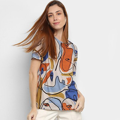 Camisetas Cantão Estampada Feminina