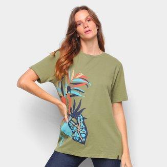 Camisetas Cantão Feminino Tshirt Boyfriend Arara -526037