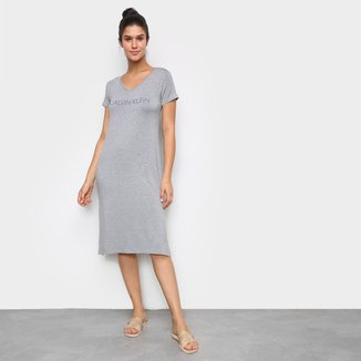 Camisola Calvin Klein Longa Recorte Lateral Feminina