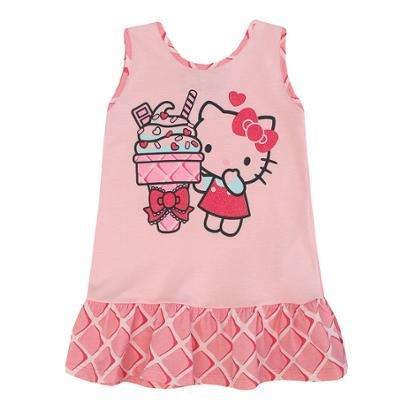 Camisola Cavada Meia Malha Sanrio Hello Kitty