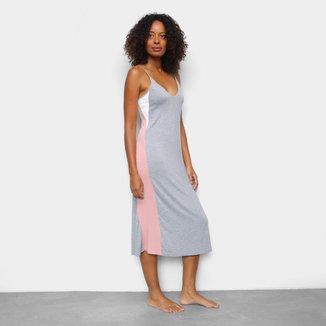 Camisola Cor Com Amor Dress Midi Alça