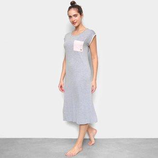 Camisola Cor Com Amor Dress Midi Manga Curta