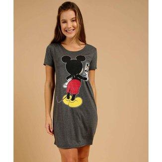 Camisola Feminina Estampa Mickey Manga Curta Disney - 10047162006
