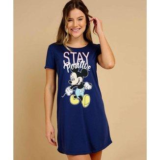 Camisola Feminina Mickey Manga Curta Disney - 10047811577