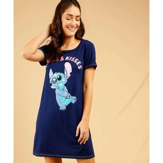 Camisola Feminina Stitch Manga Curta Disney - 10047713451