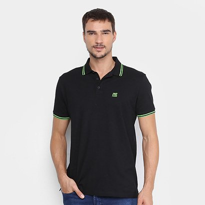 Camiss Polo Ellus 2nd Floor Neon Lines Masculina