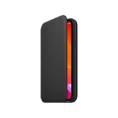Capinha de Celular Carteira Couro Apple para iPhone 11 Pro Unissex-Preto