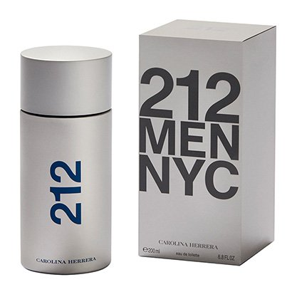 Carolina Herrera Perfume Masculino 212 NYC Men EDT 200ml - Masculino-Incolor