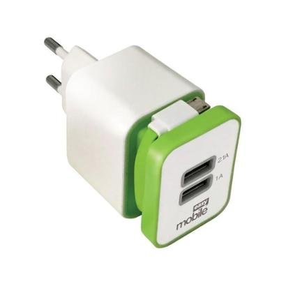 Carregador Parede para Celular/GPS/iPhone/Tablet Easy Mobile Smart USB Unissex-Branco+Verde