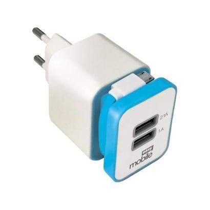 Carregador Parede para Celular/GPS/iPhone/Tablet Easy Mobile Smart USB Unissex-Branco+Azul