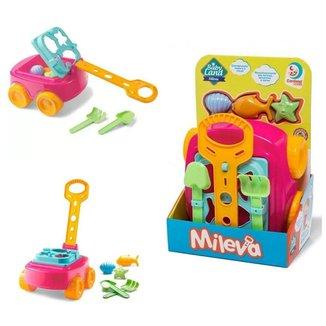 Carrinho Baby Land Mileva Educativo com Puxador Brinquedo Cardoso Toys Menina