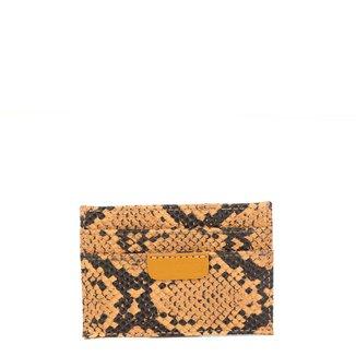 Carteira Anacapri Lpq Eco Ma Sn Porta Cartão Snake Feminina