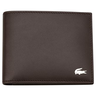 Carteira Couro Lacoste Small Billfold Masculina
