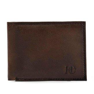 Carteira Flip Hoddi Couro Porta Cartões Documentos Dinheiro