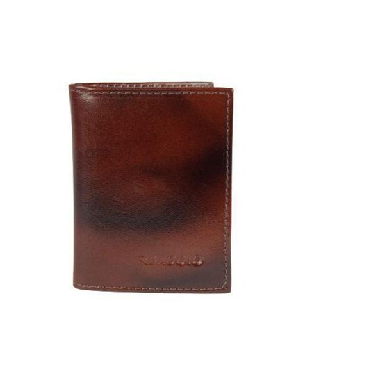Carteira Pequena com Porta Cartão E CNH   Reaggio - Café