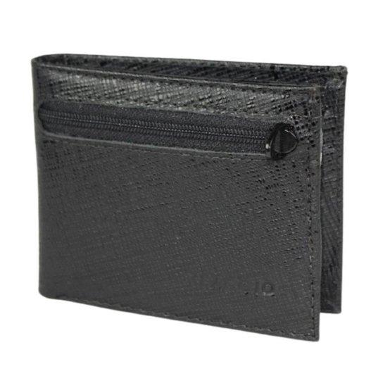 Carteira Pequena com Porta Cartão e CNH - Reaggio - Preto