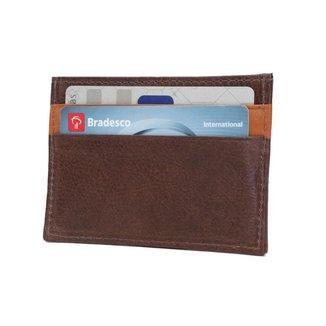Carteira Porta Cartão em Couro 085c UomoVitali