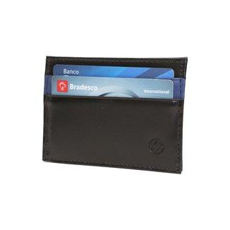 Carteira Porta Cartão em Couro 085p UomoVitali