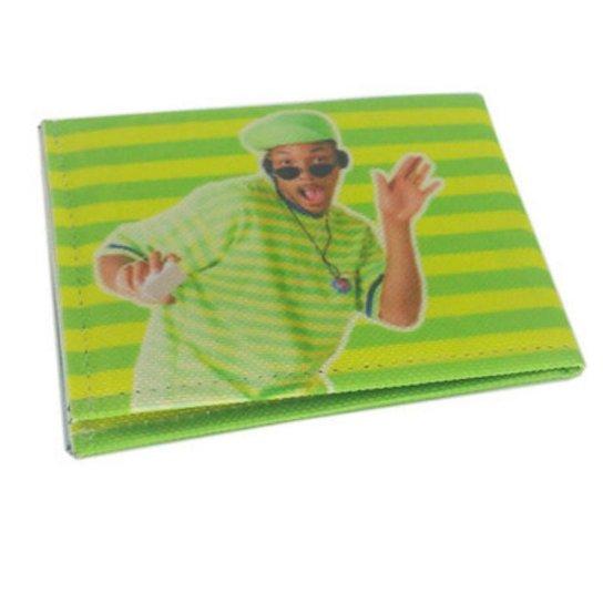Carteira Porta Cartões Documento Case Slim Estampada - Verde