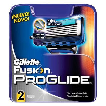 Cartucho de Recarga 2 Unidades Gillette Fusion Proglide Recarga Gillette